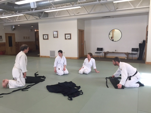 End of Class discussion at Aikido of Maine
